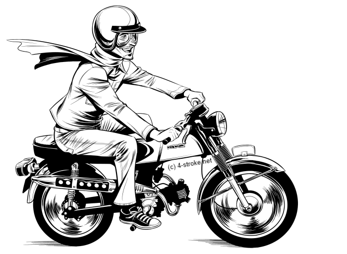 moped line art small new