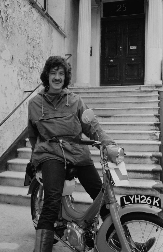 Ian McKellen on a motorcycle October 1965. Photo by Don Smith Radio Times