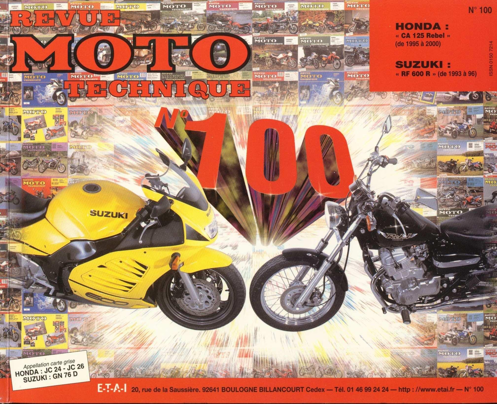 Revue moto technique - no. 100 CA125S Rebel JC24 (1995) (French)