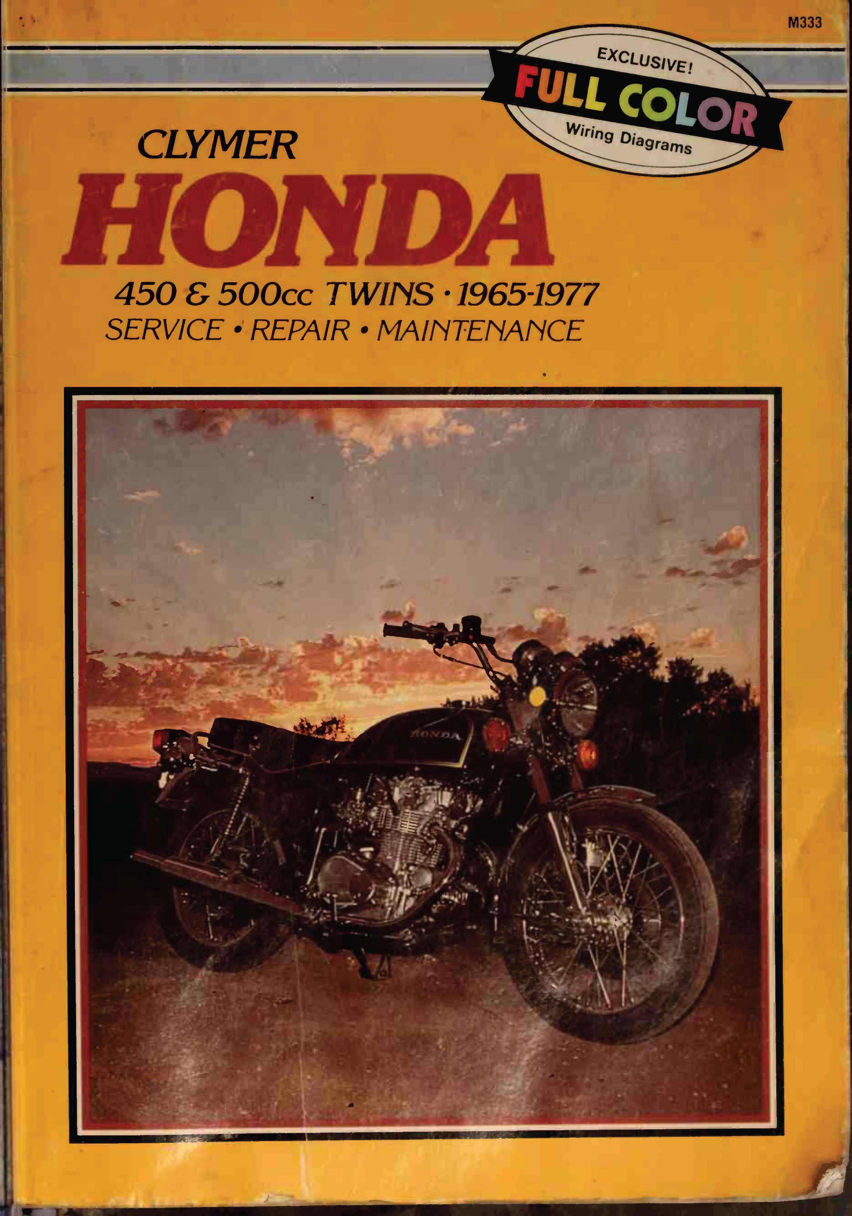 Clymer Honda 450 & 500cc twins - 1965-1977