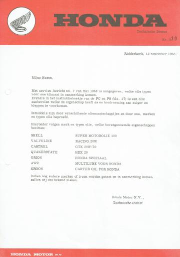 Servicebulletin 10 (1968)