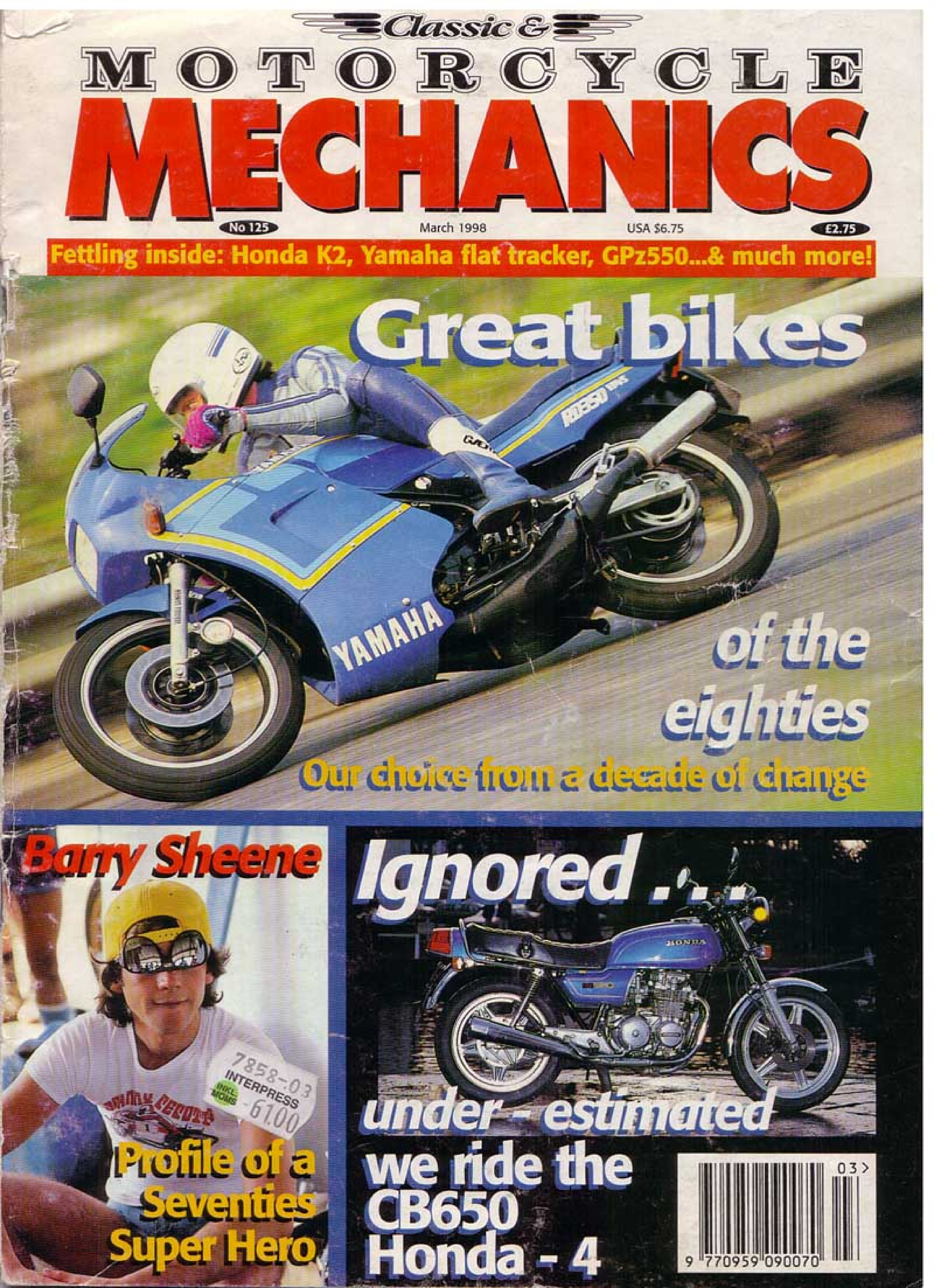 Motorcycle Mechanics about Honda CB650 (March 1988)
