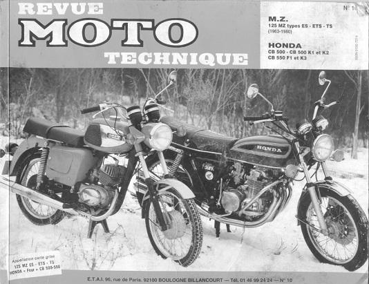 Revue Moto Technique Issue 10 about the Honda 500-550 Four