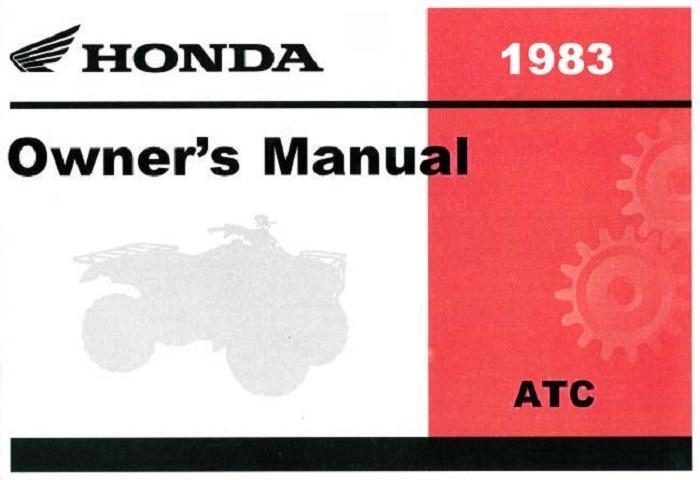 Honda ATC Big Red (1983) Owner's Manual