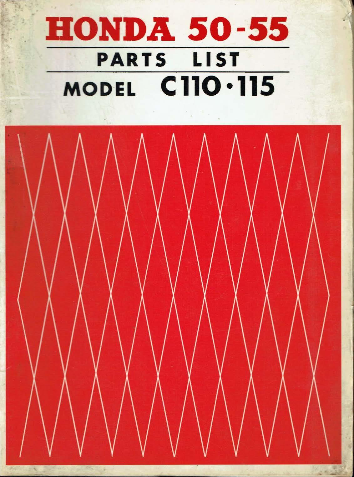 Parts list for Honda C110 (1963)