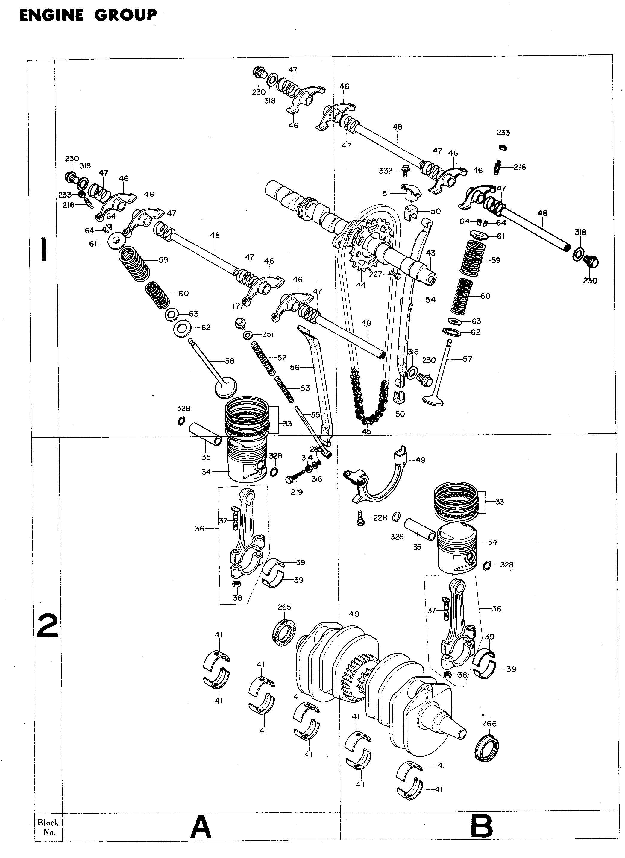 Parts list for Honda CB400F1 (1977)