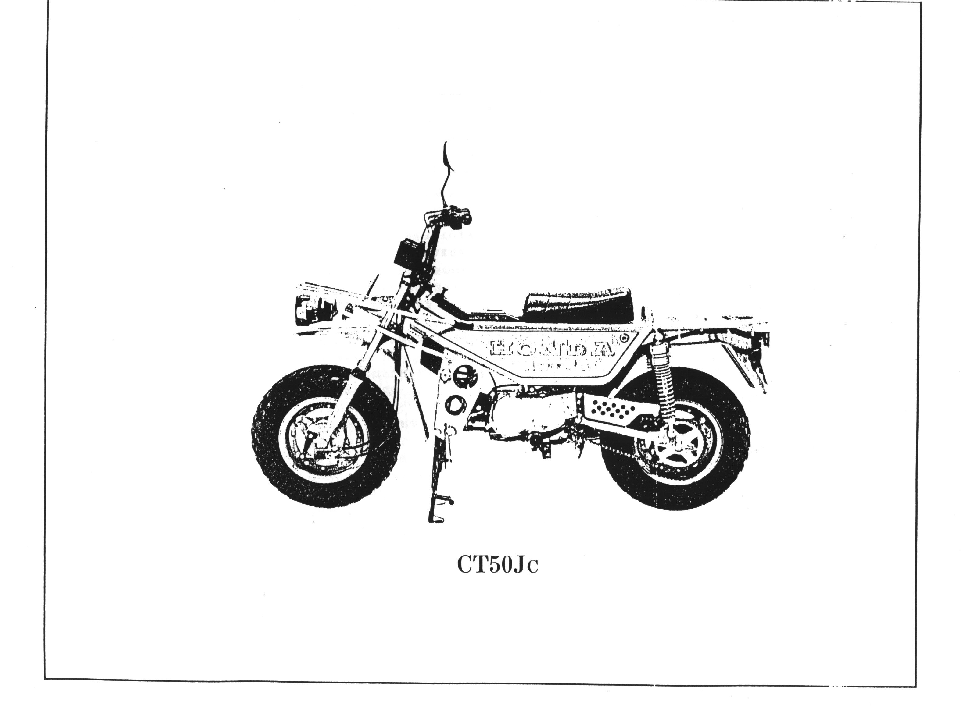 Parts List for CT50J Motra (Japanese)