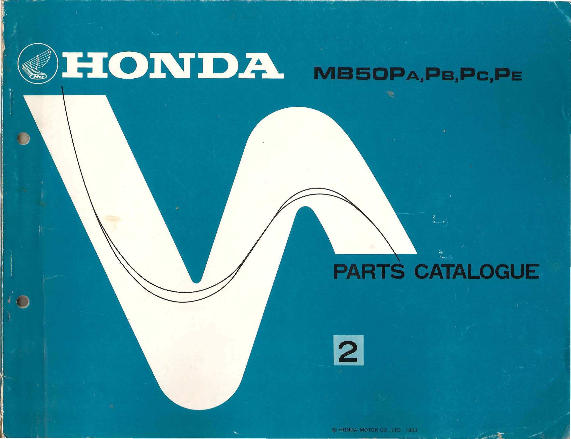 Parts list for Honda MB50P (1983)