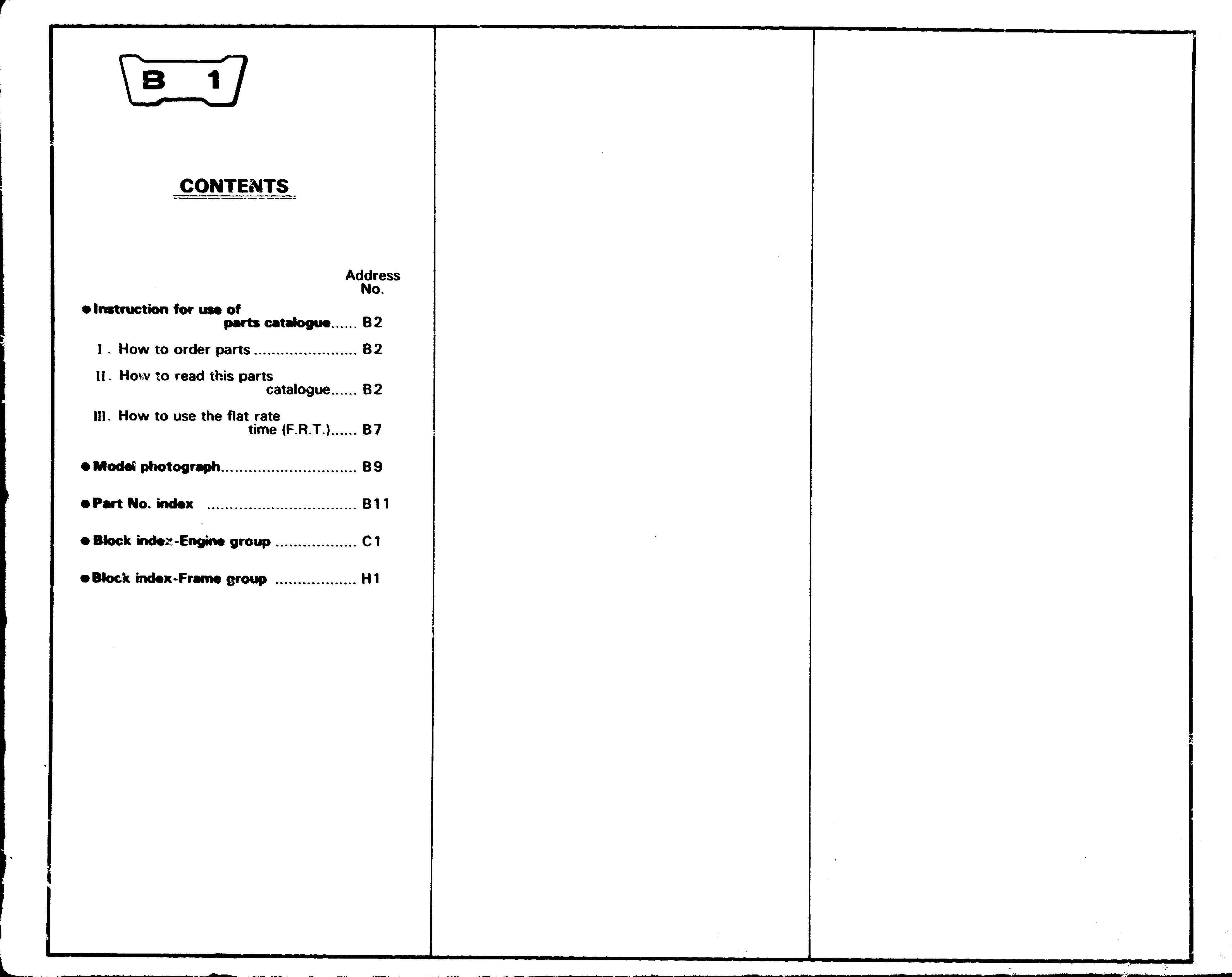 Parts List for Honda XL250S (1978)