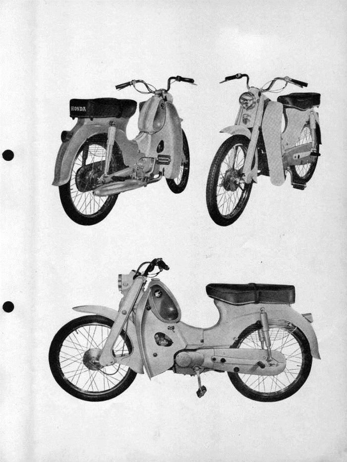 Parts list for Honda C310A (1967)