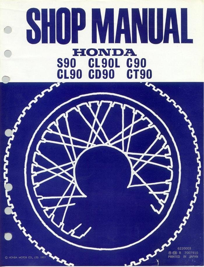 Workshop manual for Honda CL90L (1977)