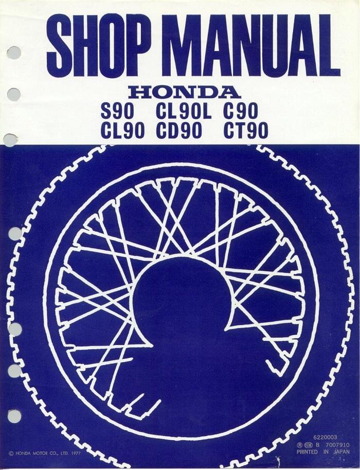 Workshop manual for Honda S90 (1977)