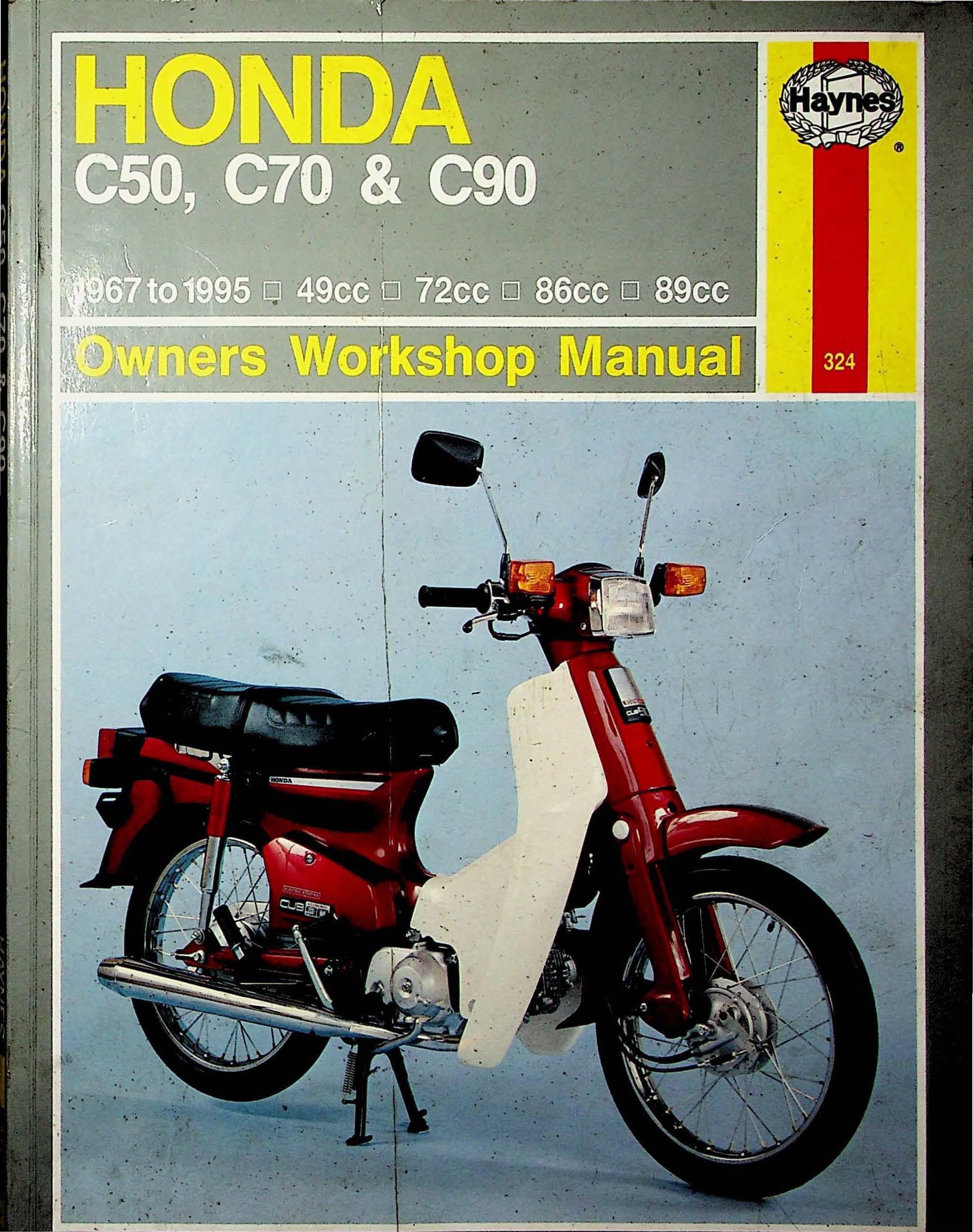 Workshop manual for Honda C90 (1967-1995)