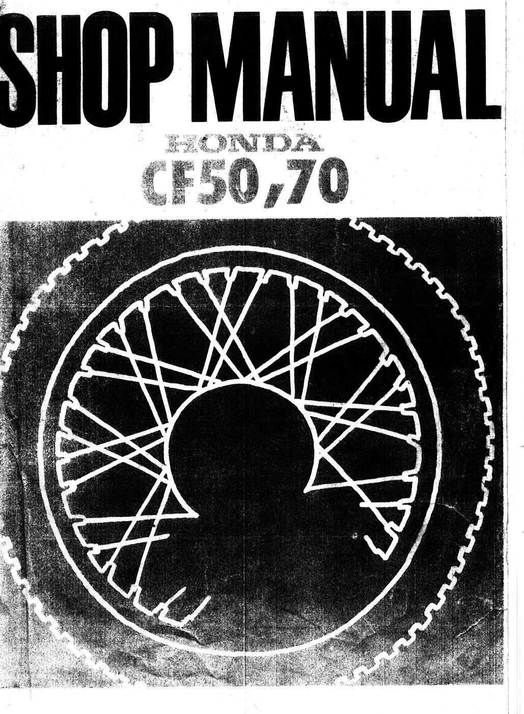 Workshop Manual for Honda CF50 (1973)