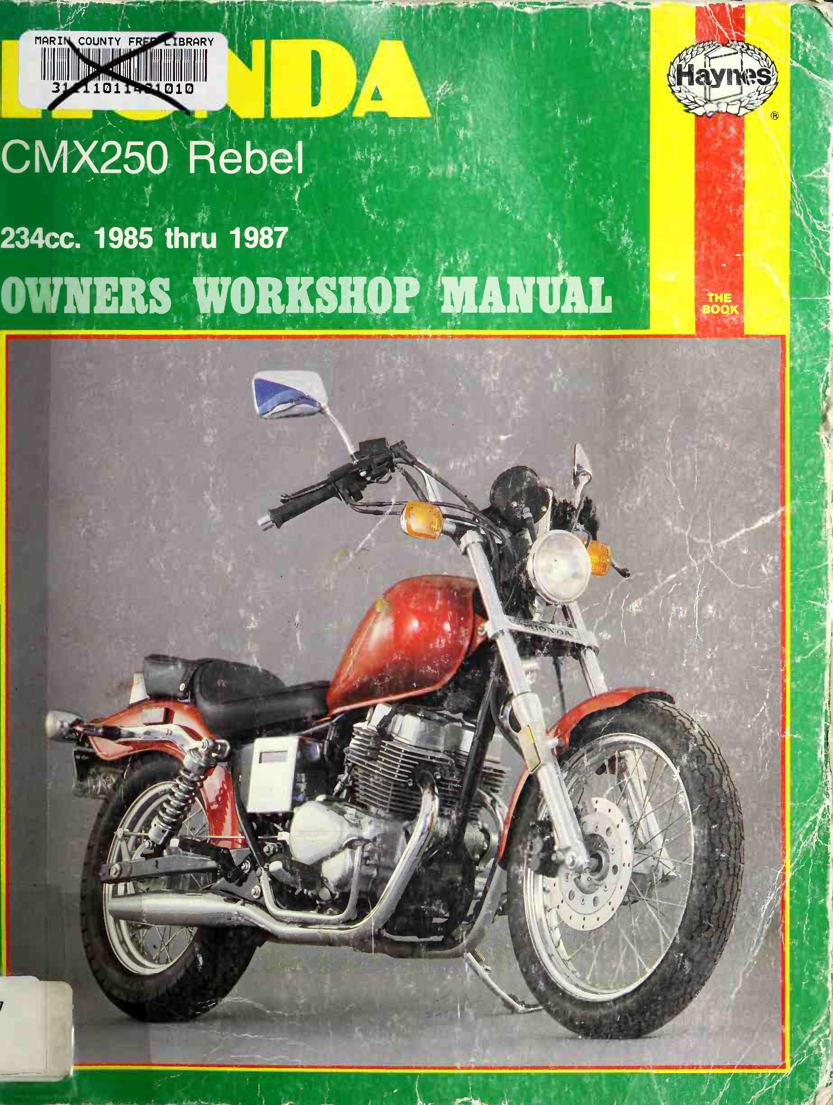 Workshop manual for Honda CMX250 Rebel (1985-1987)