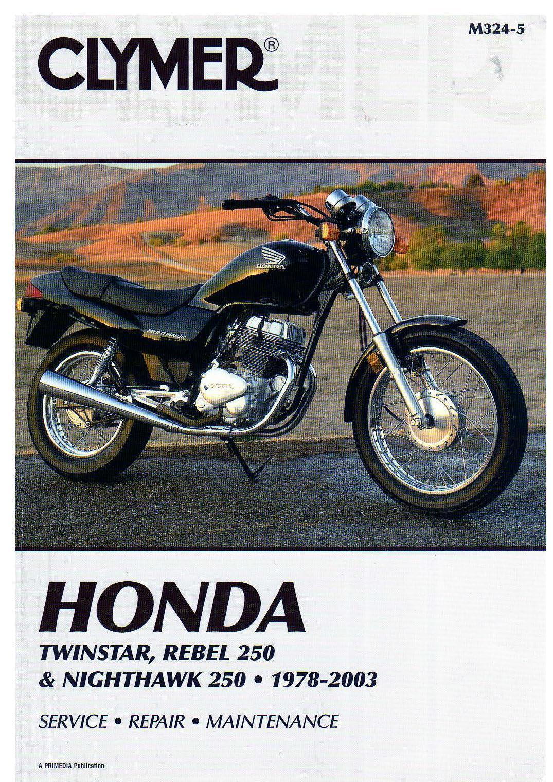 Workshop manual CMX250 Rebel / Twinstar / Nighthawk (1978-2003)