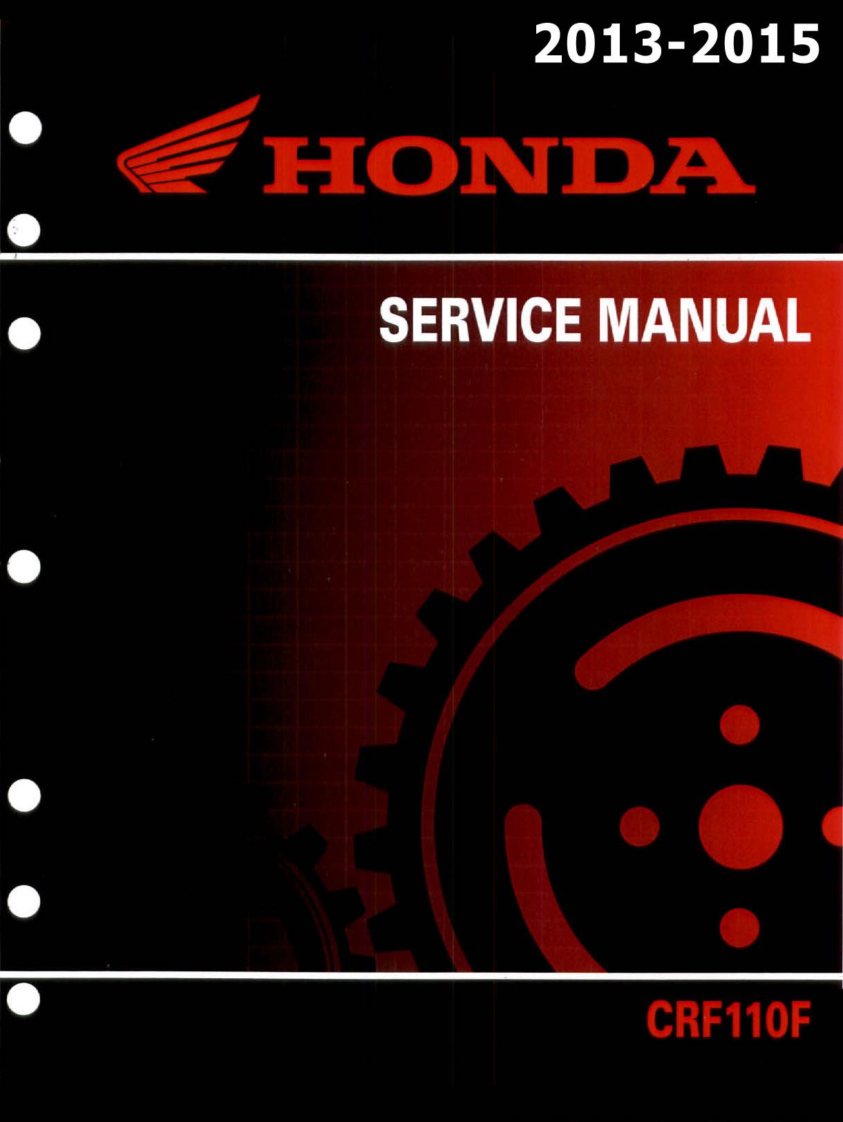 Workshop Manual for Honda CRF110F (2013-2015)
