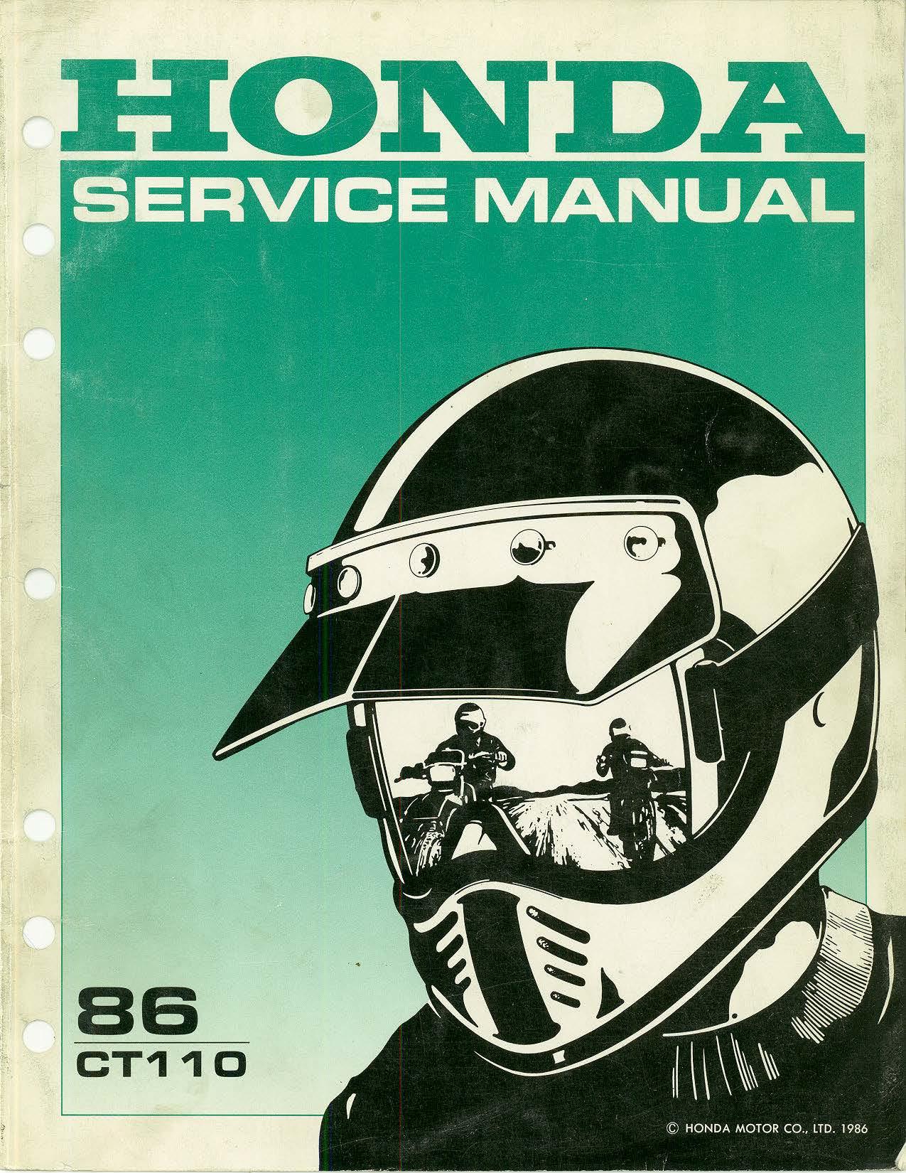 Workshop manual for Honda CT110 (1986)