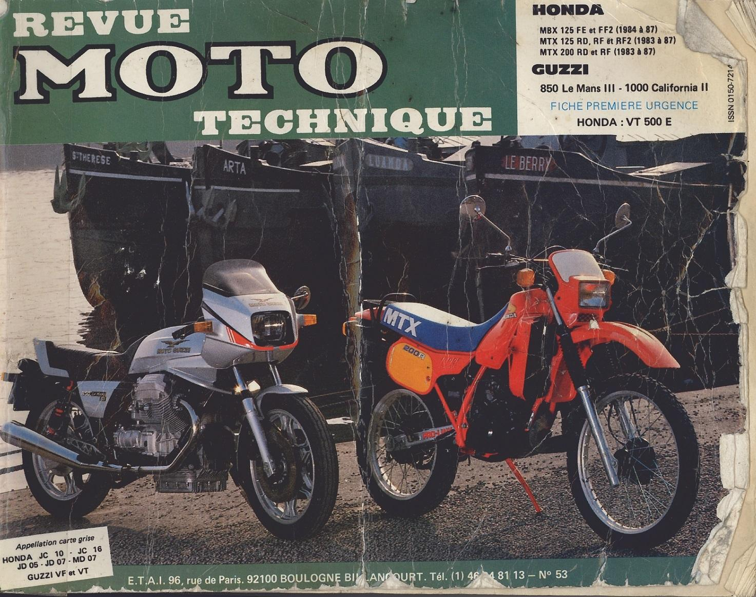 Workshop Manual for Honda MTX125RF (1983-1987)