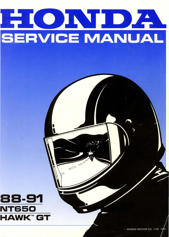 Workshop manual for Honda NT650 Hawk GT (1988-1991)