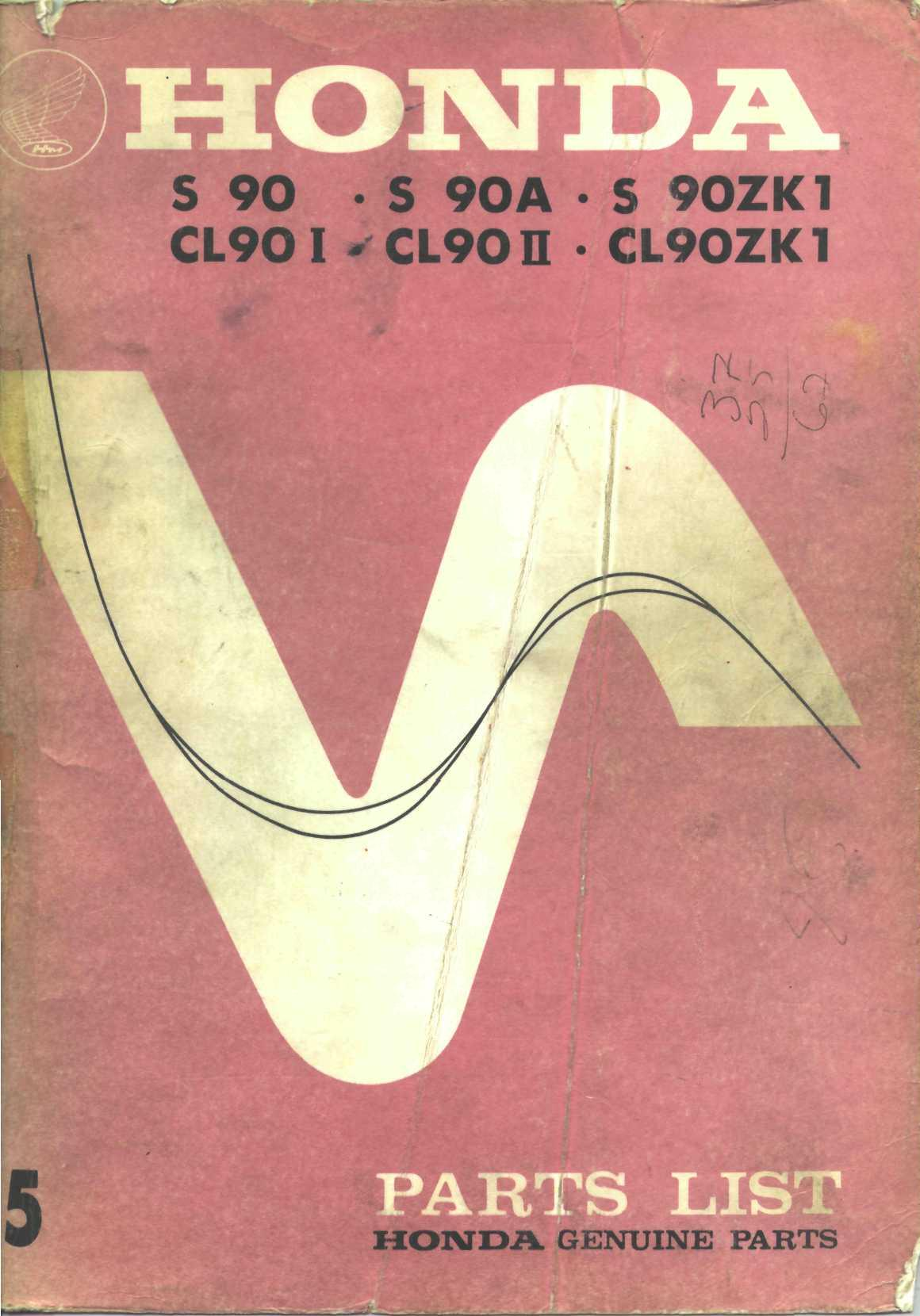 Workshopmanual for Honda S90 (1972)