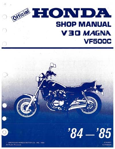 Workshop Manual for Honda VF500C (1984-1985)