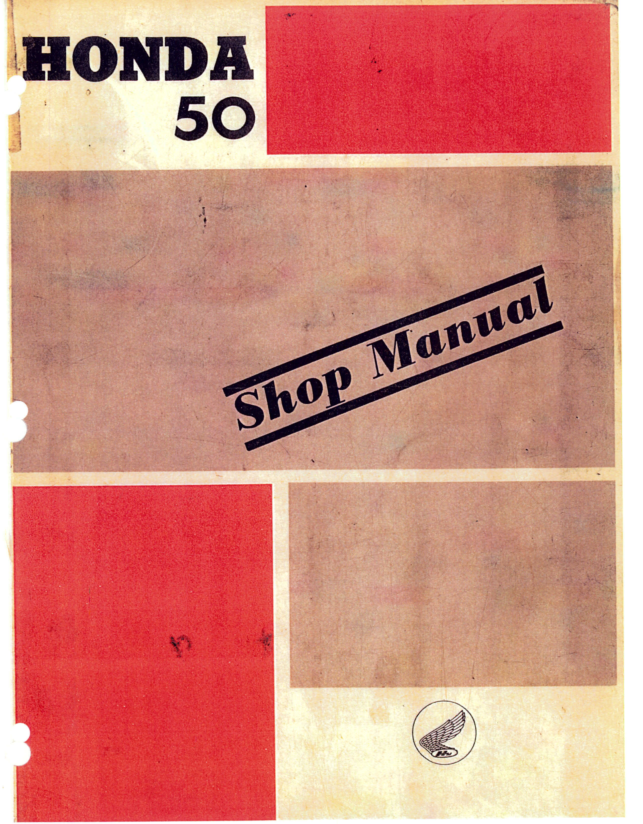Workshop manual for Honda C102 (1961)
