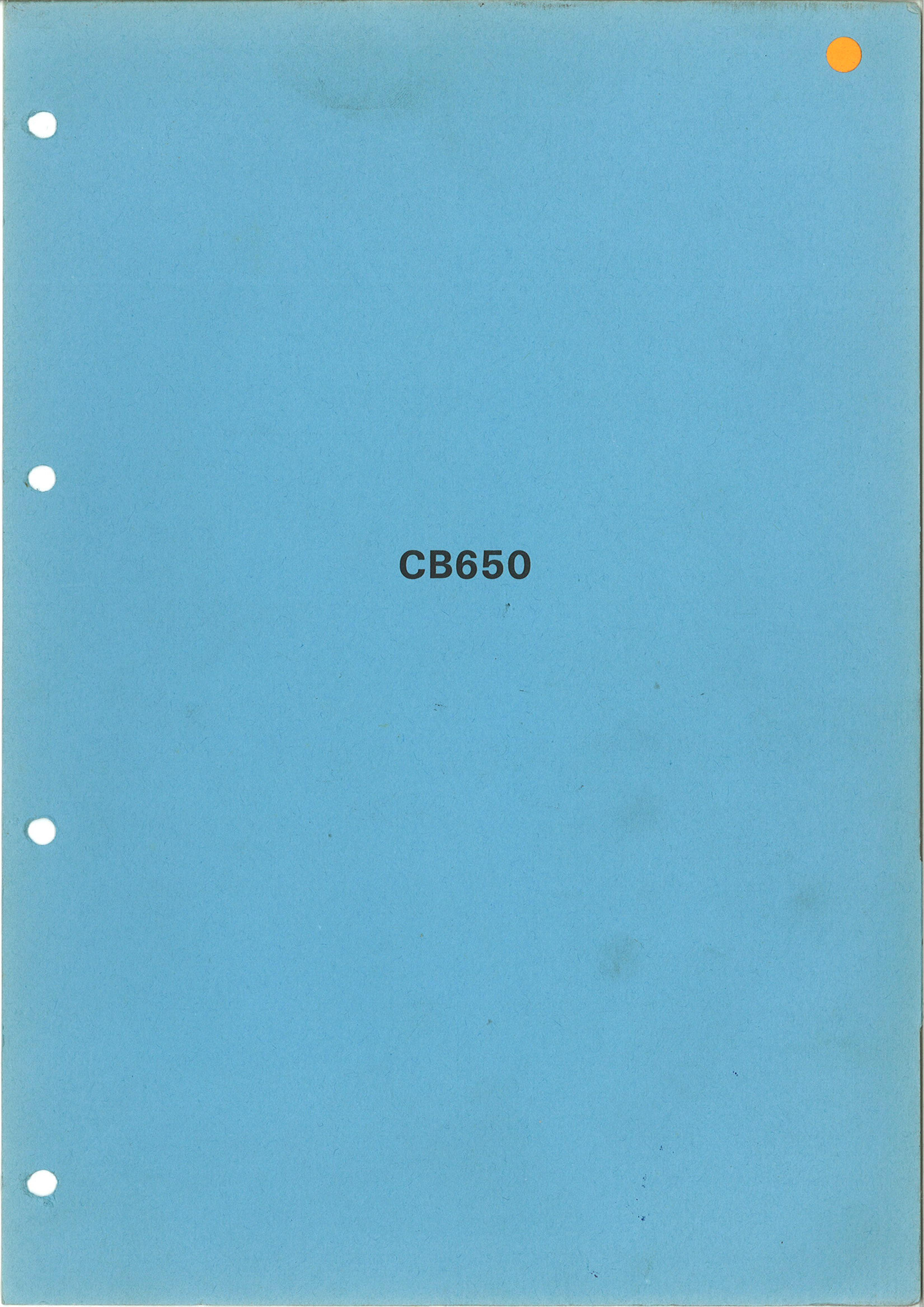 Workshop Manual for Honda CB650