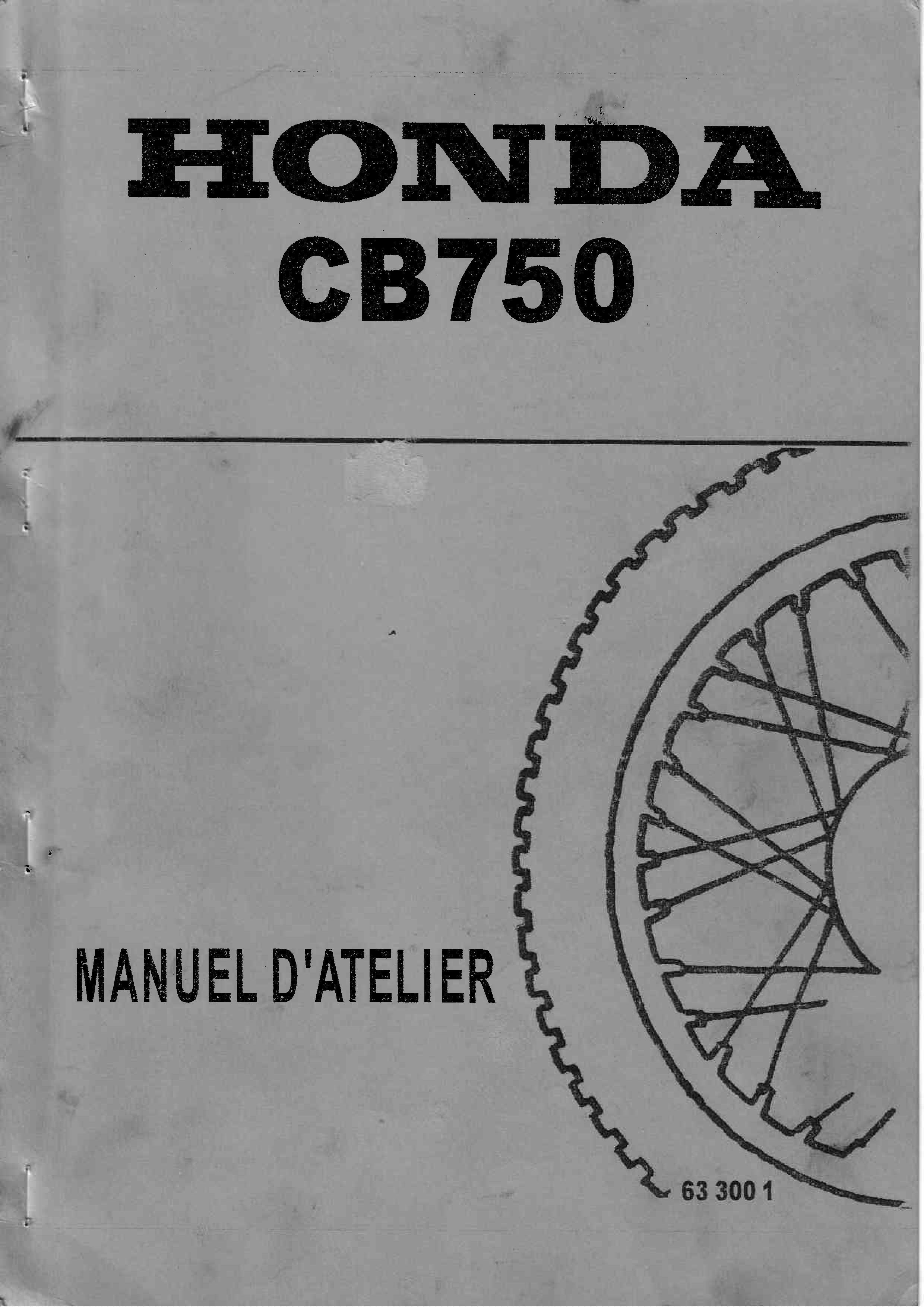 Workshopmanual for Honda CB750 (French)