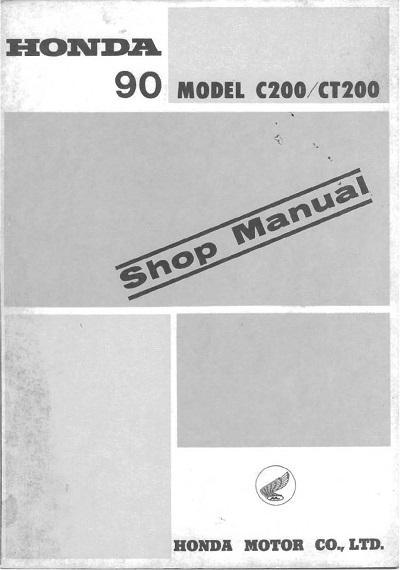 Workshop manual for Honda C200