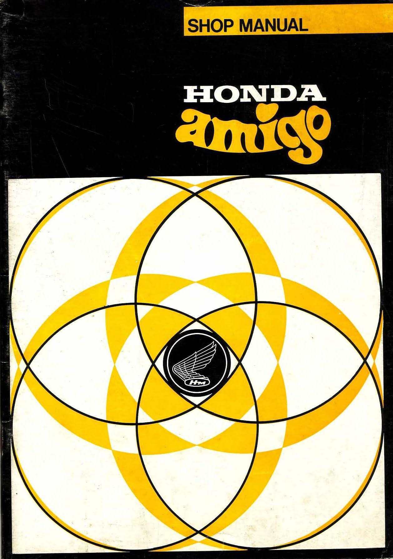 Workshop manual for Honda PF50 Amigo (French)