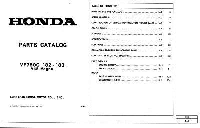 Workshop manual for Honda VF750C v45 Magna (1982-1983)